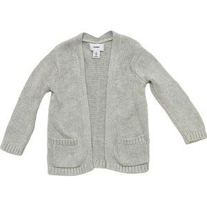 Grey Knit Open Front Cardigan